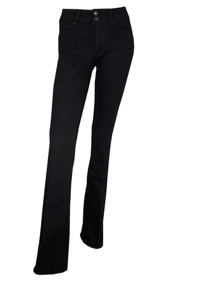 Paige Denim Hidden Hills High Rise Bootcut - Black main image