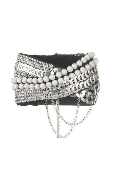 Fiona Paxton Salma Cuff - Silver, White and Black main image