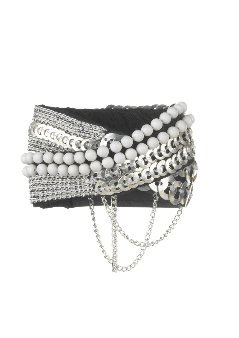 Salma Cuff - Silver, White and Black main image