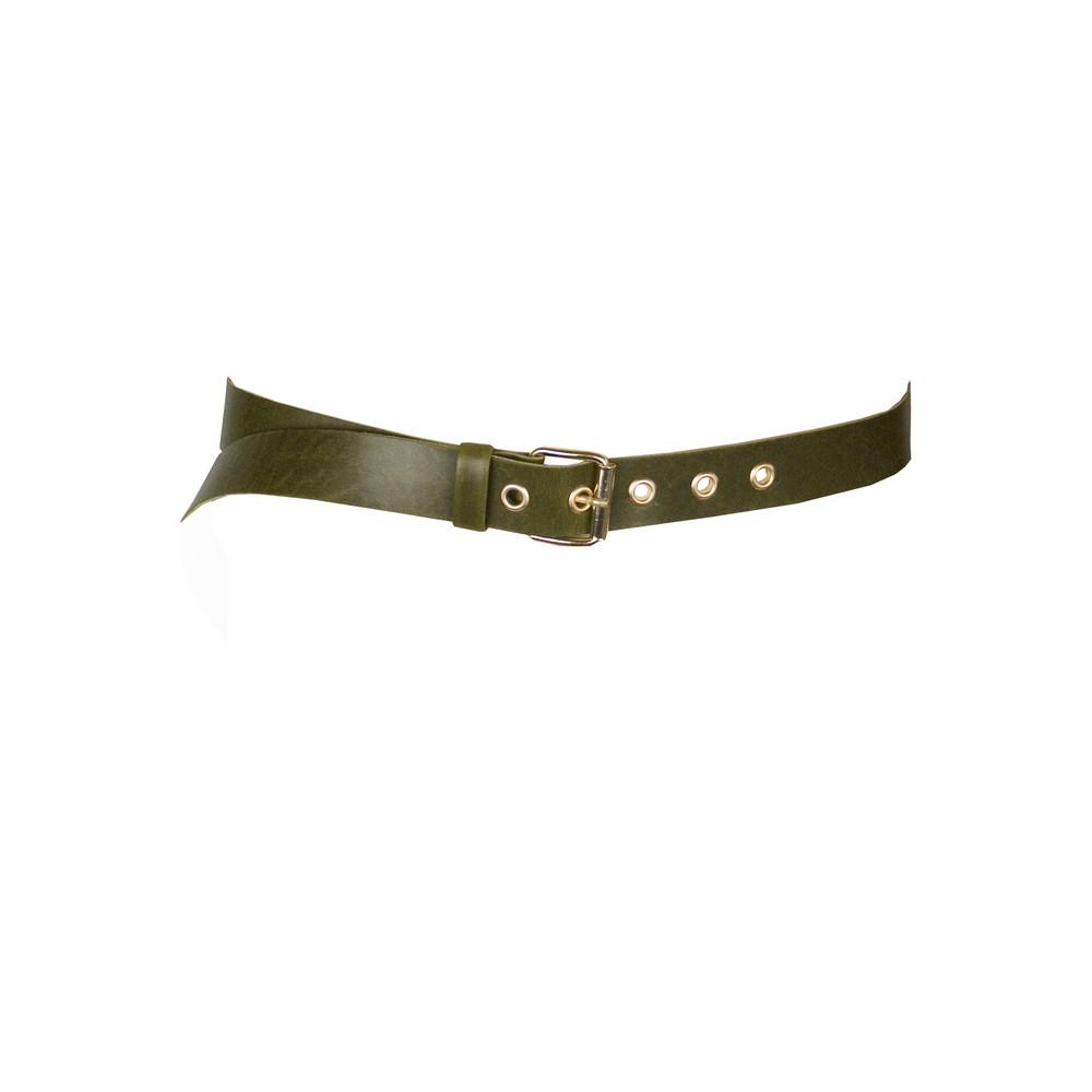 Soft Leather Belt  Khaki