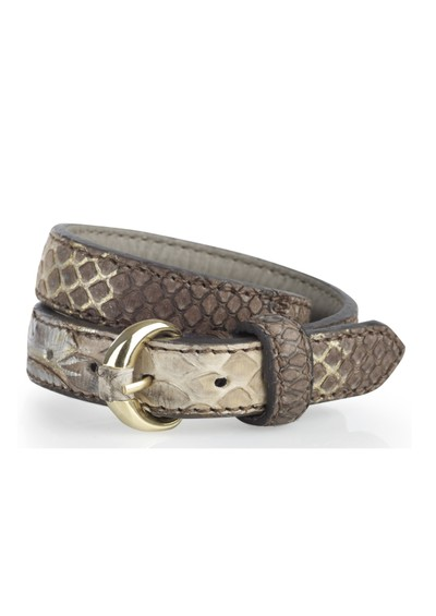Lily and Lionel Metallic Snake Leather Wrap Bracelet - Etop main image