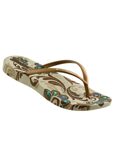 Ipanema Rich Flip Flop - Beige and Gold main image