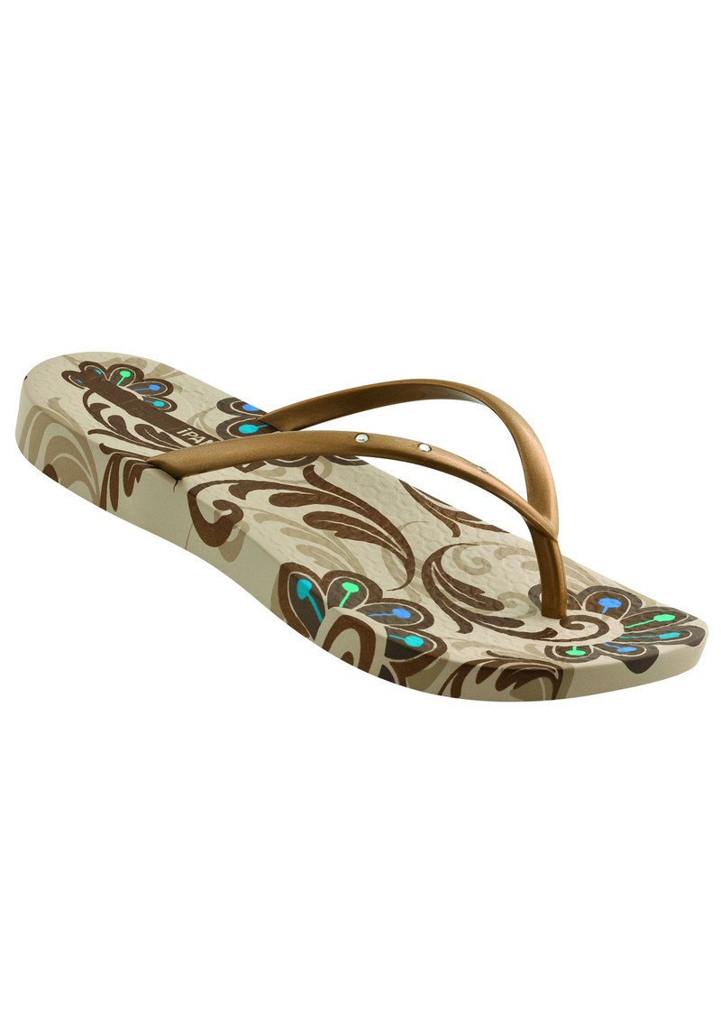 Rich Flip Flop - Beige and Gold main image