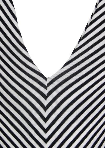 Butter By Nadia Yves Long Jersey Dress - Black & White Stripe main image