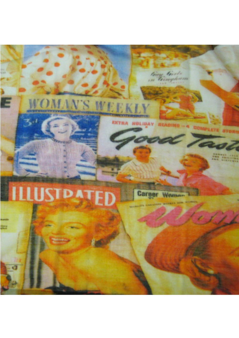 1950s Magazine Scarf - Orange main image