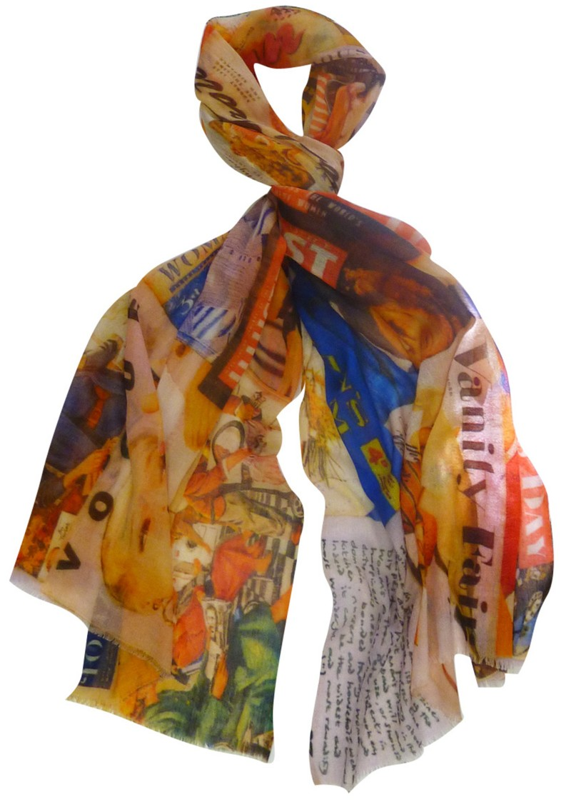 Lily and Lionel 1950s Magazine Scarf - Orange main image