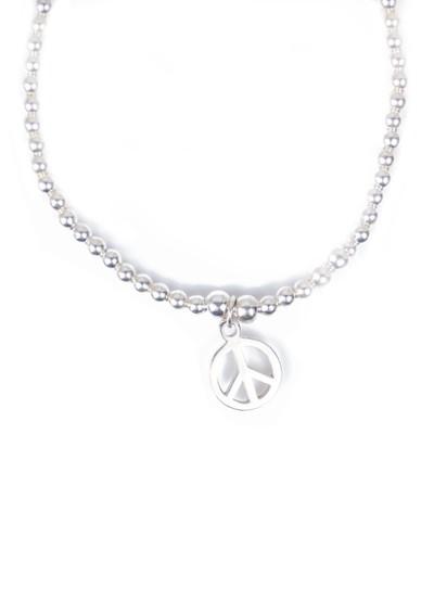 ChloBo Cute Charm Peace Bracelet - Silver main image
