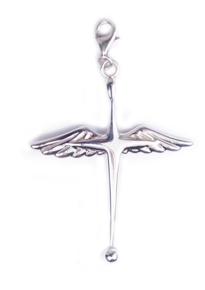 ChloBo Winged Cross Pendant Charm - Silver main image