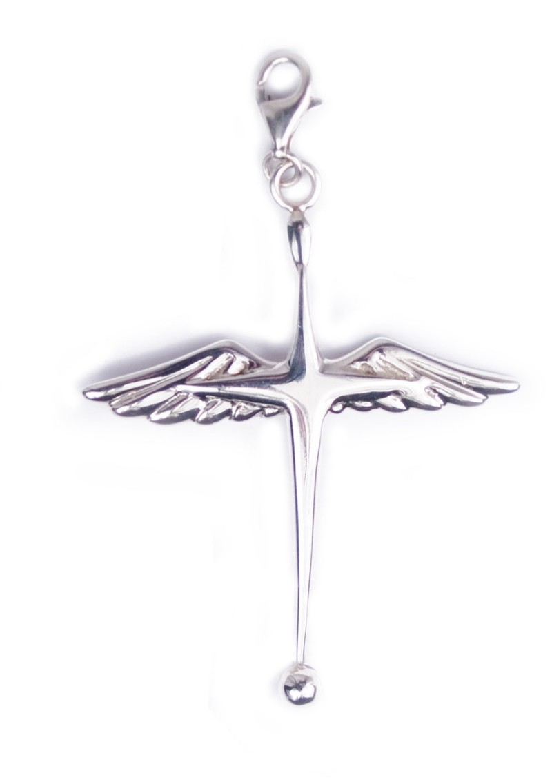 ChloBo Winged Cross Pendant Charm - Silver main image