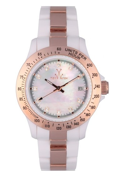 Toywatch Small Heavy Metal - White & Rose Gold main image