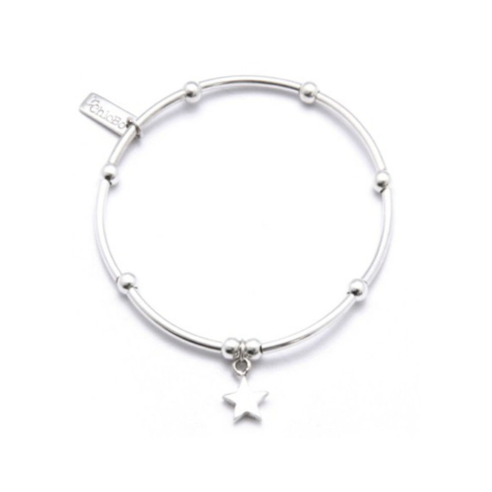 Mini Noodle Ball with Star Charm - Silver
