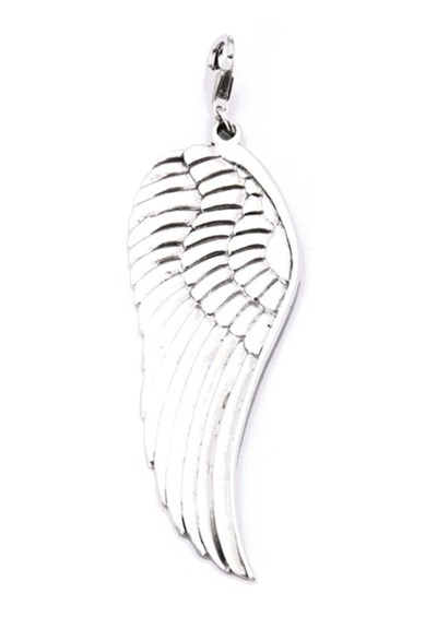 ChloBo Large Angel Wing Pendant Charm - Silver main image