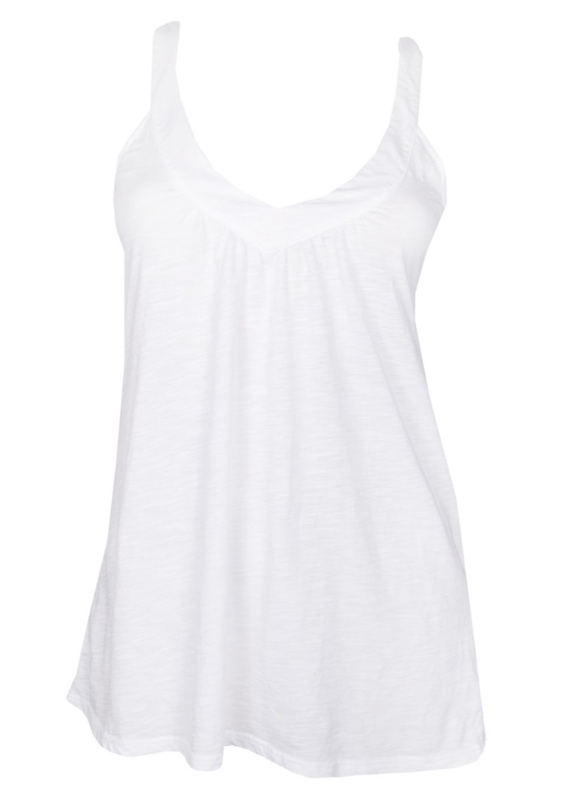 Racer Back V Neck Tee - White main image