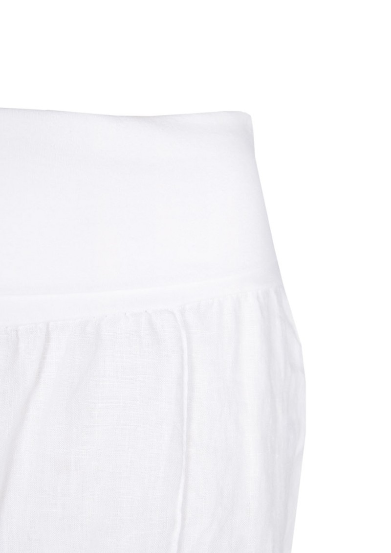 Fresh Laundry Wide Leg Linen Pant - White main image