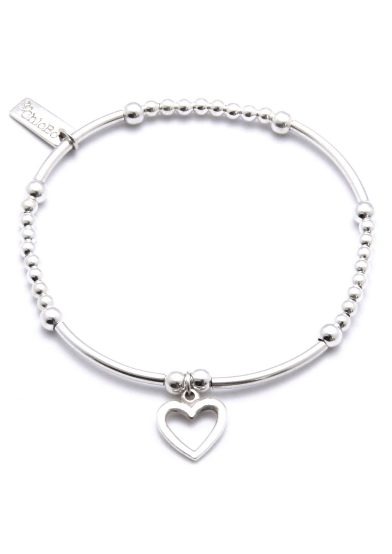 ChloBo Cute Mini Bracelet With Open Heart Charm - Silver main image