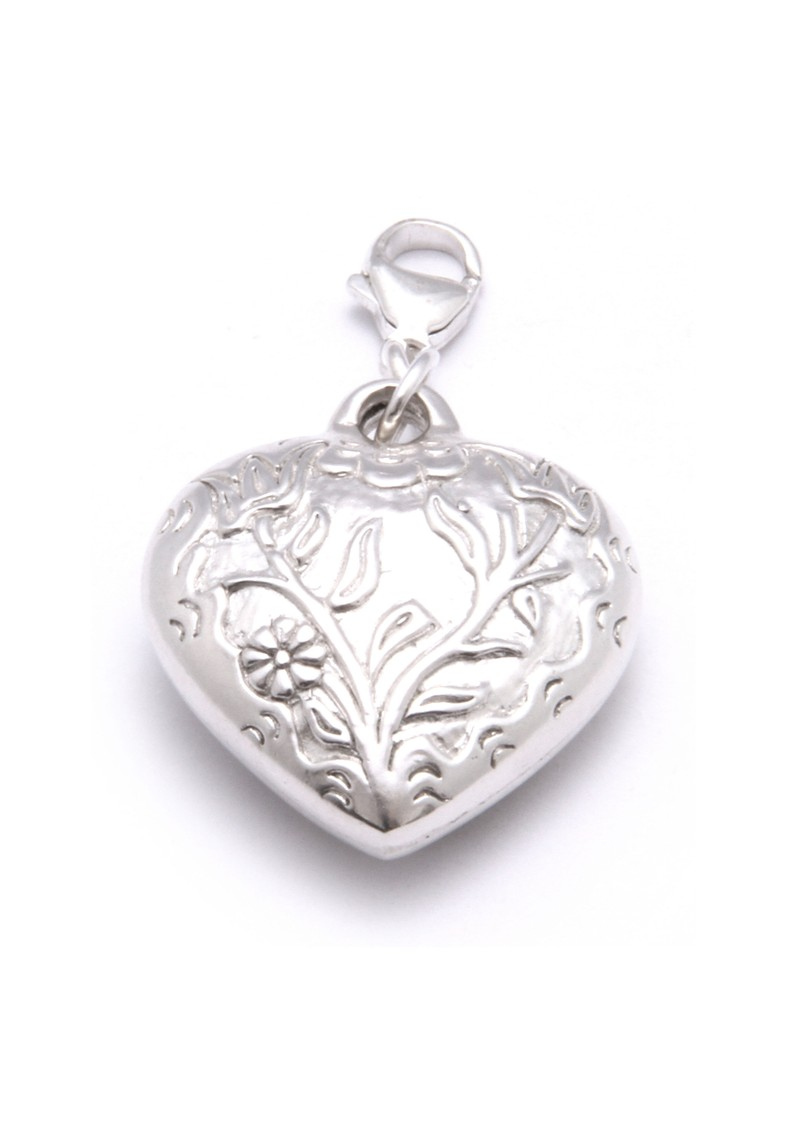 Large Embossed Heart Pendant Charm main image