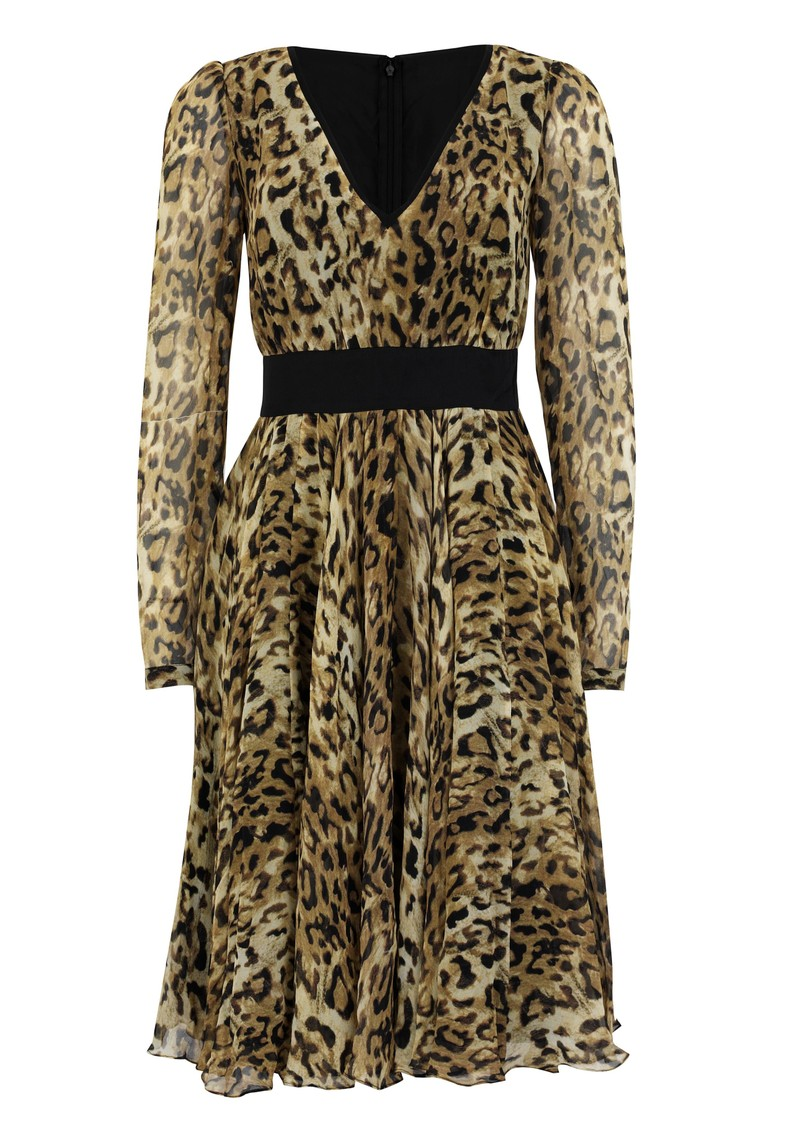 Vienna Silk Dress - Leopard main image