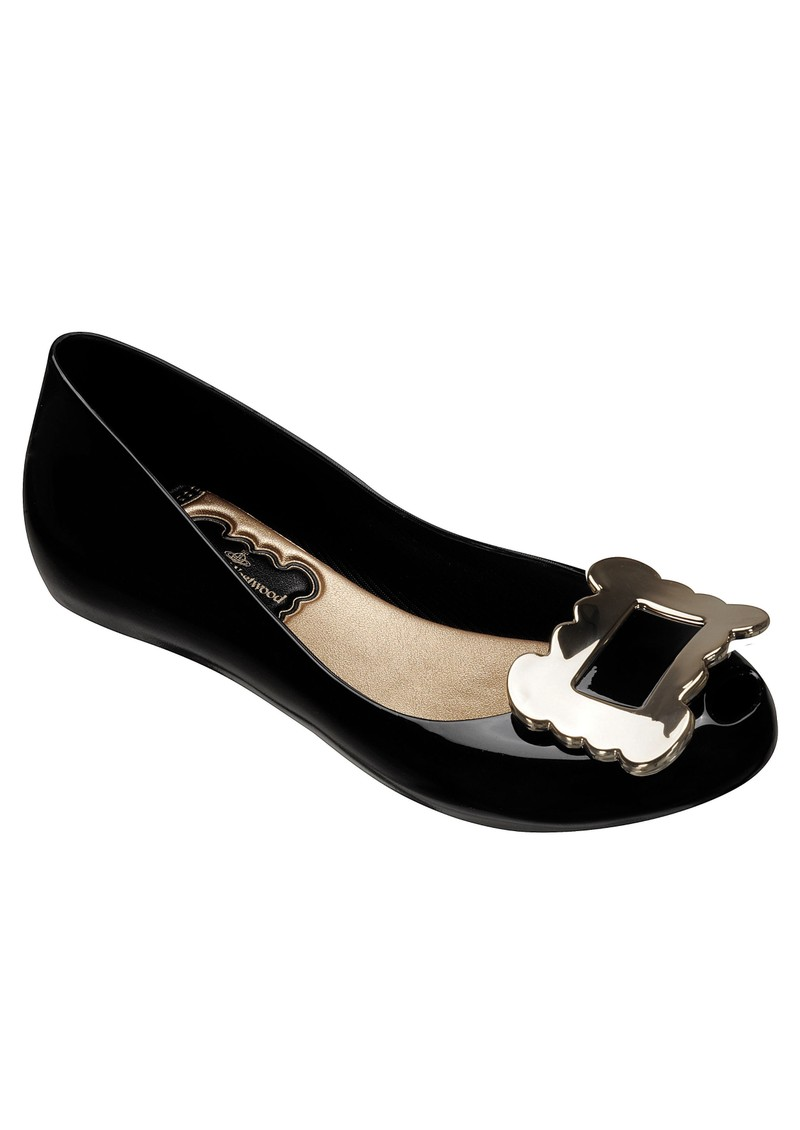 Melissa Vivienne Westwood Ultragirl Buckle Flat Shoes - Black main image