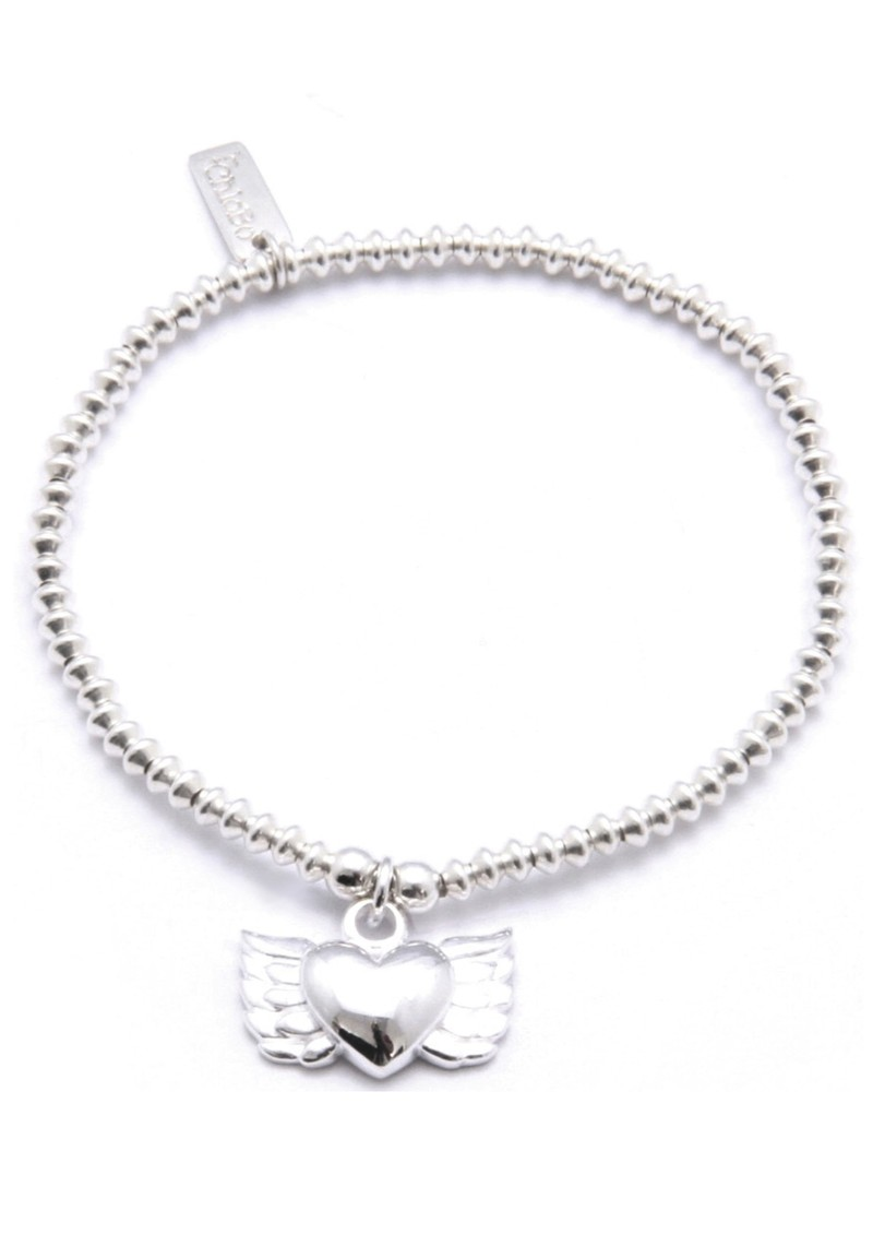 Cute Mini Disc Bracelet with Winged Heart main image