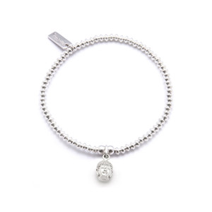 Cute Mini Bracelet With Buddha Head - Silver