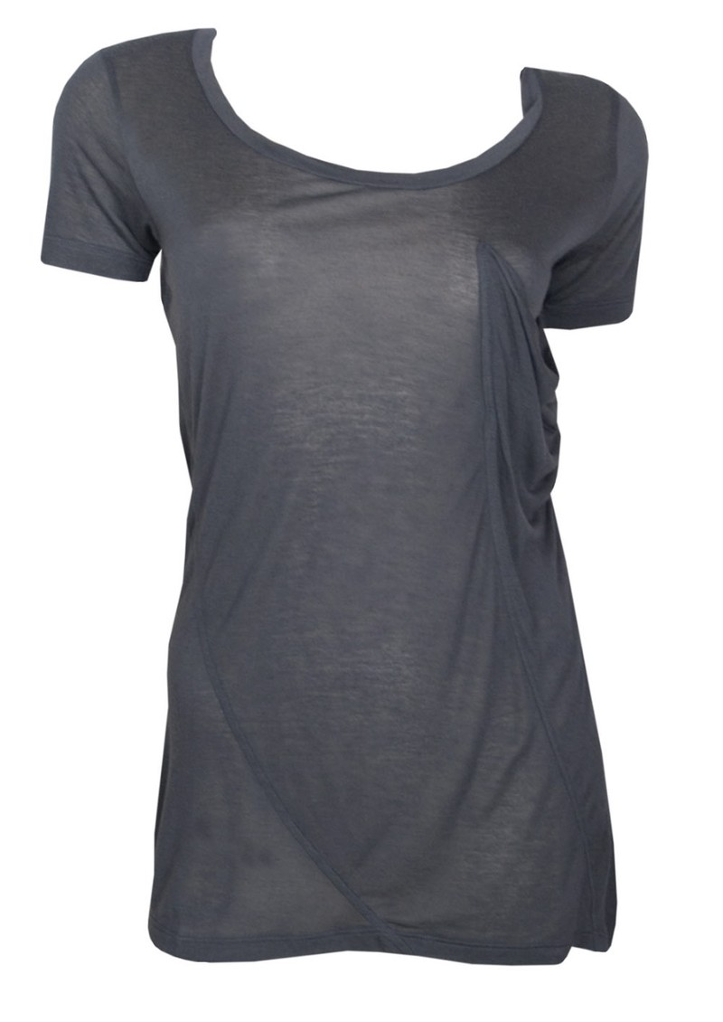 Seymour Cashmere Mix T Shirt - Anthracite main image