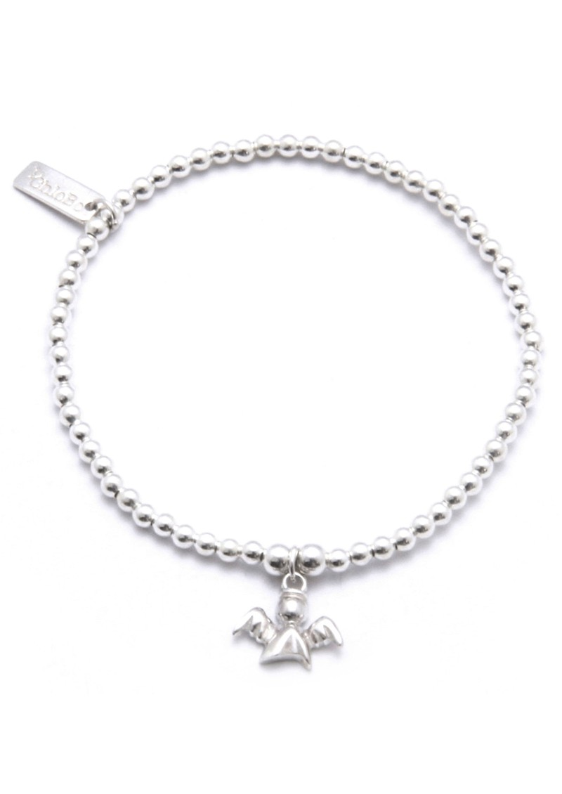 Cute Charm Bracelet Guardian Angel - Silver main image