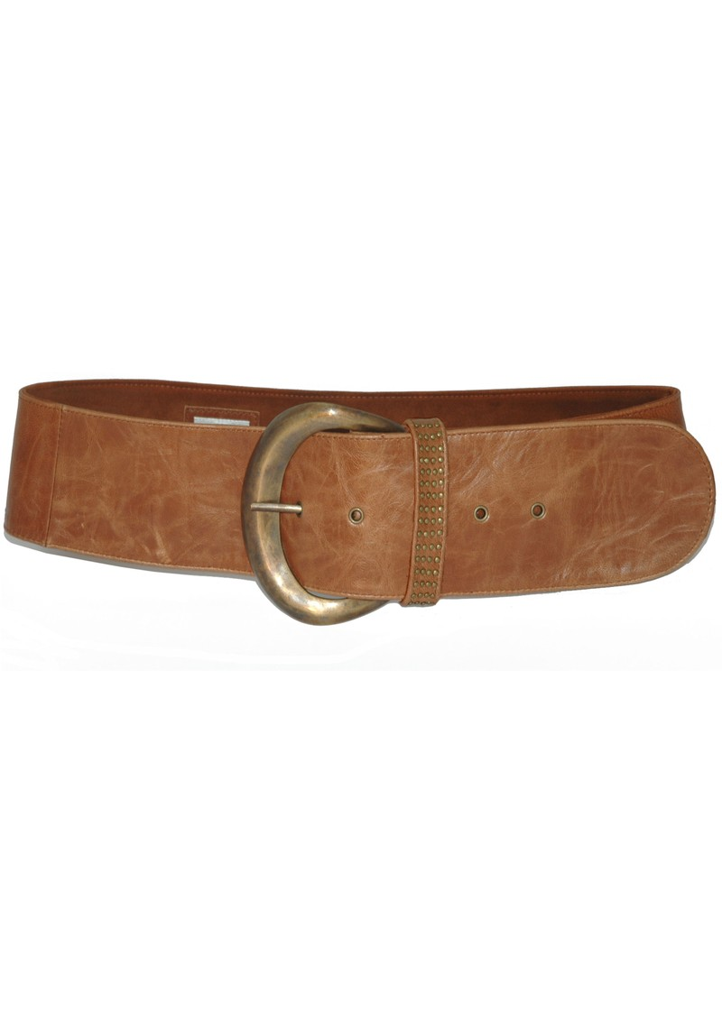 Stud Moon Belt - Tan main image