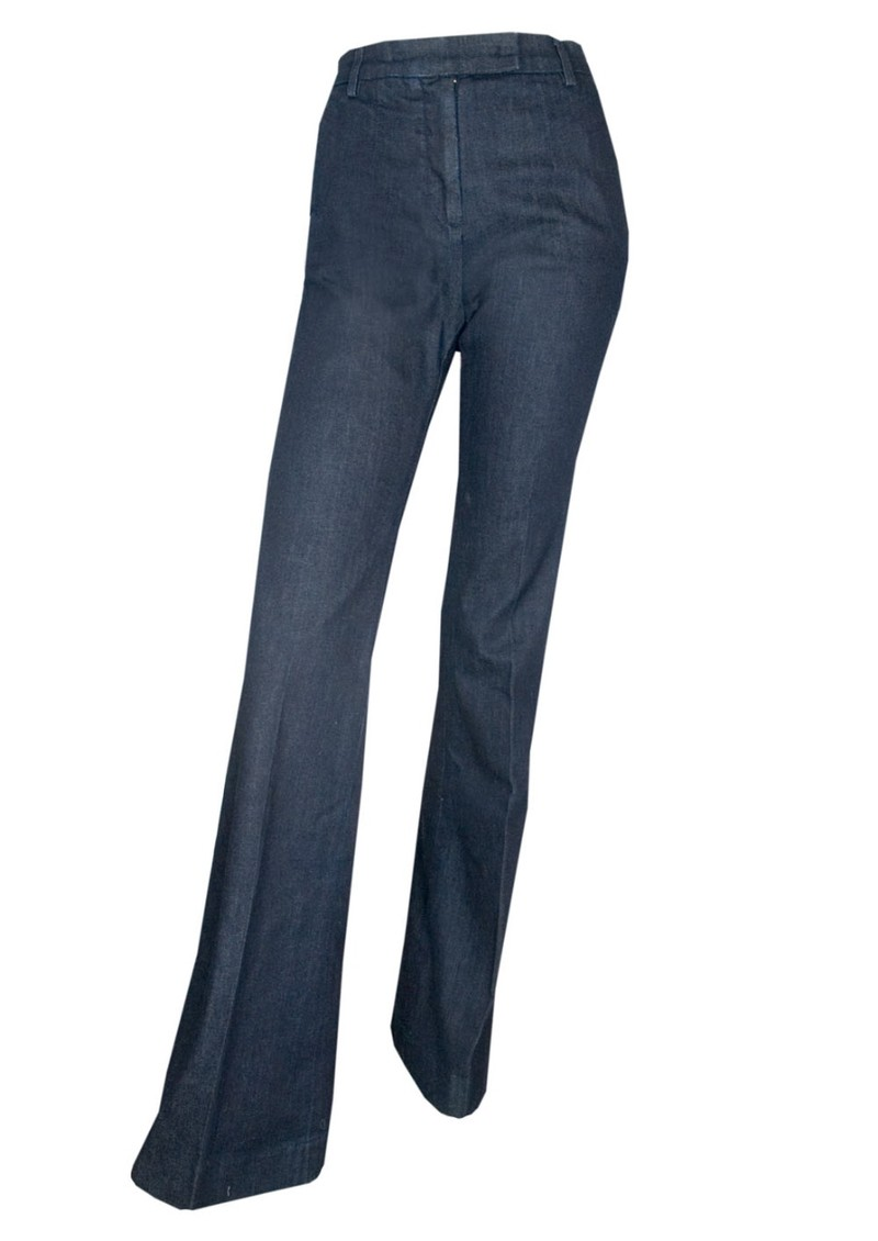 Current/Elliott The High Rise Neat Trouser - Meriwether Dark Blue main image