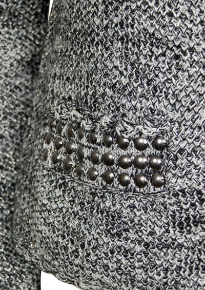 Day Birger et Mikkelsen  Montague Wool Mix Cardigan - Black, Grey & Silver main image