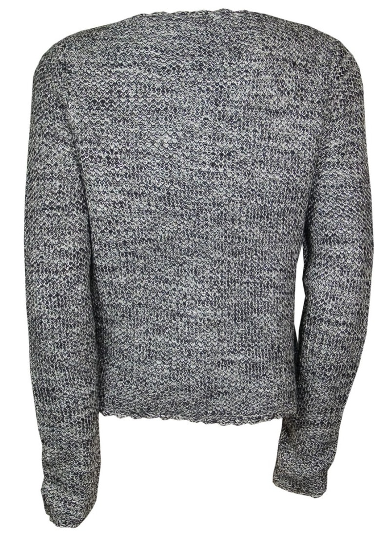 Montague Wool Mix Cardigan - Black, Grey & Silver main image