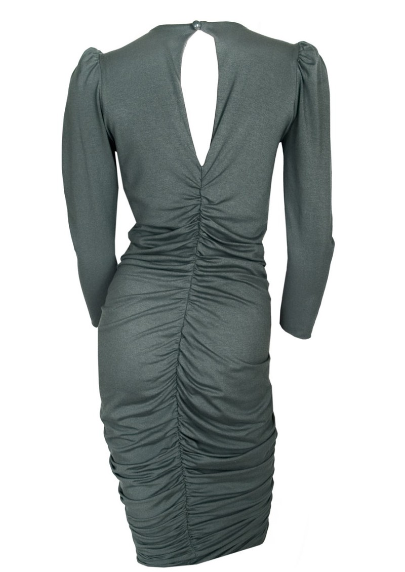 Devon Jersey Dress - Charcoal main image