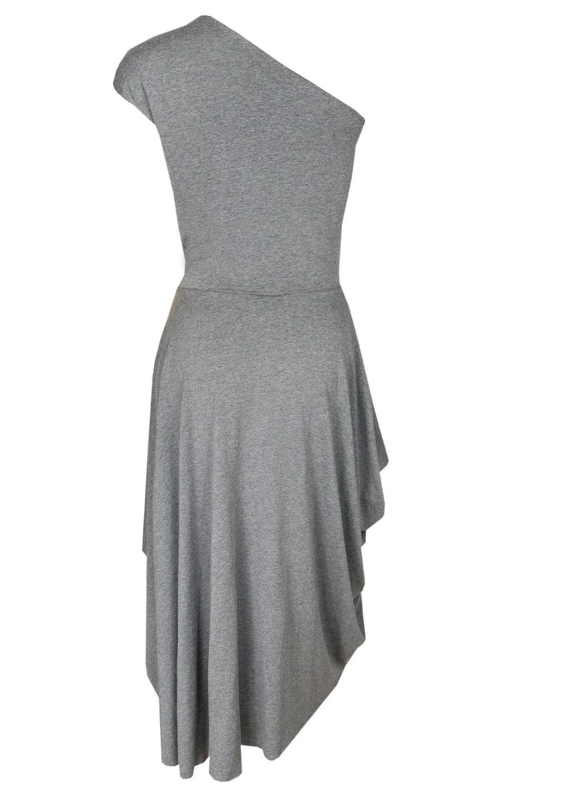 Asym Jersey Dress - Gravel main image