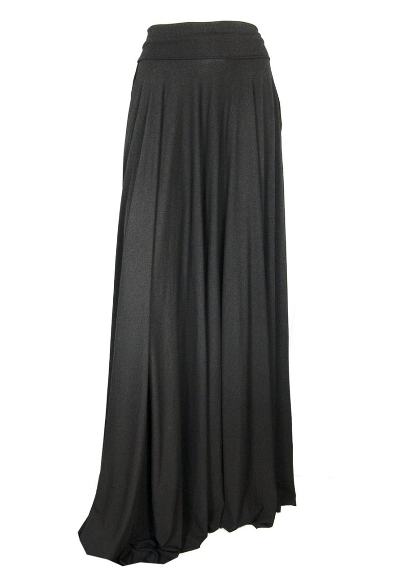 butter by maxi circle jersey skirt black