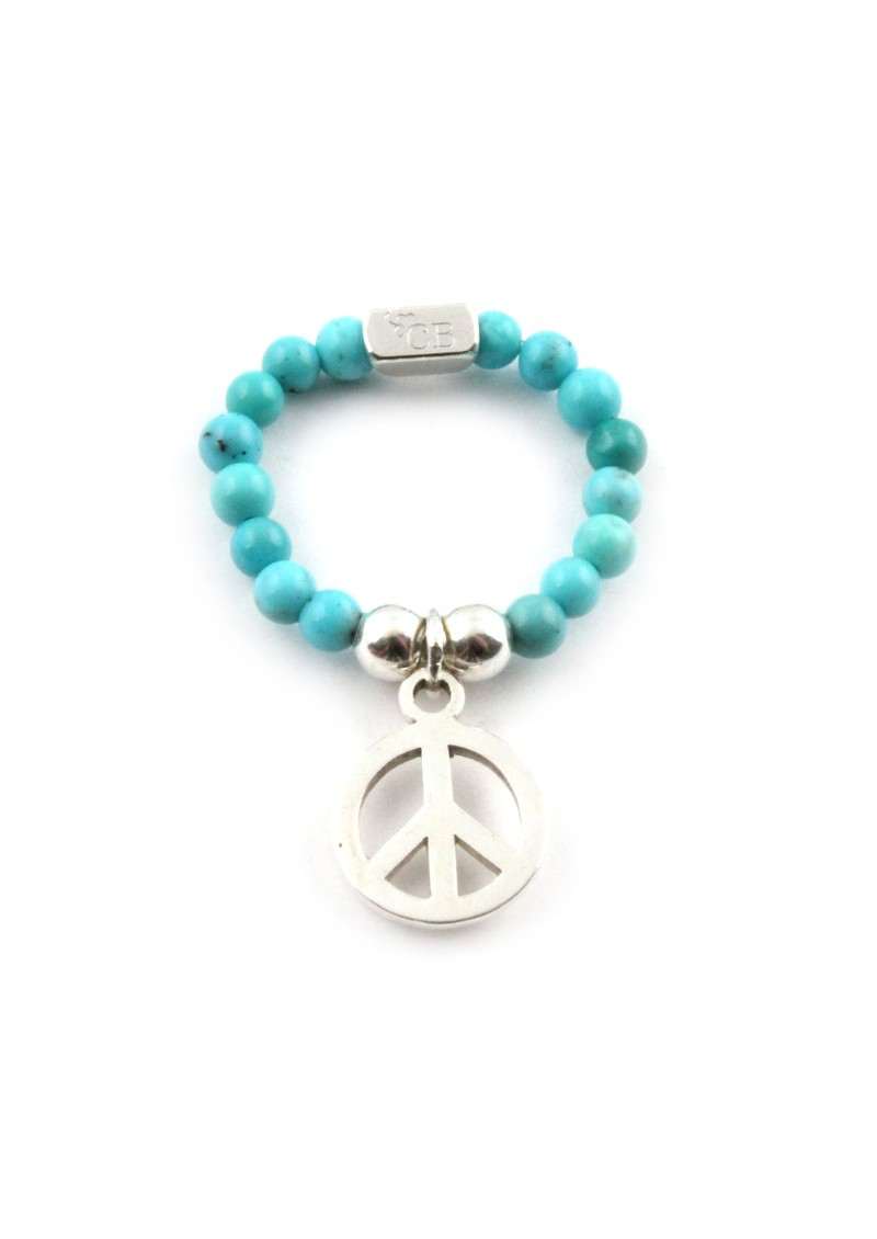 ChloBo Turquoise Ring With Peace Charm main image