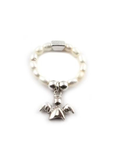 ChloBo Pearl Ring With Angel Charm main image