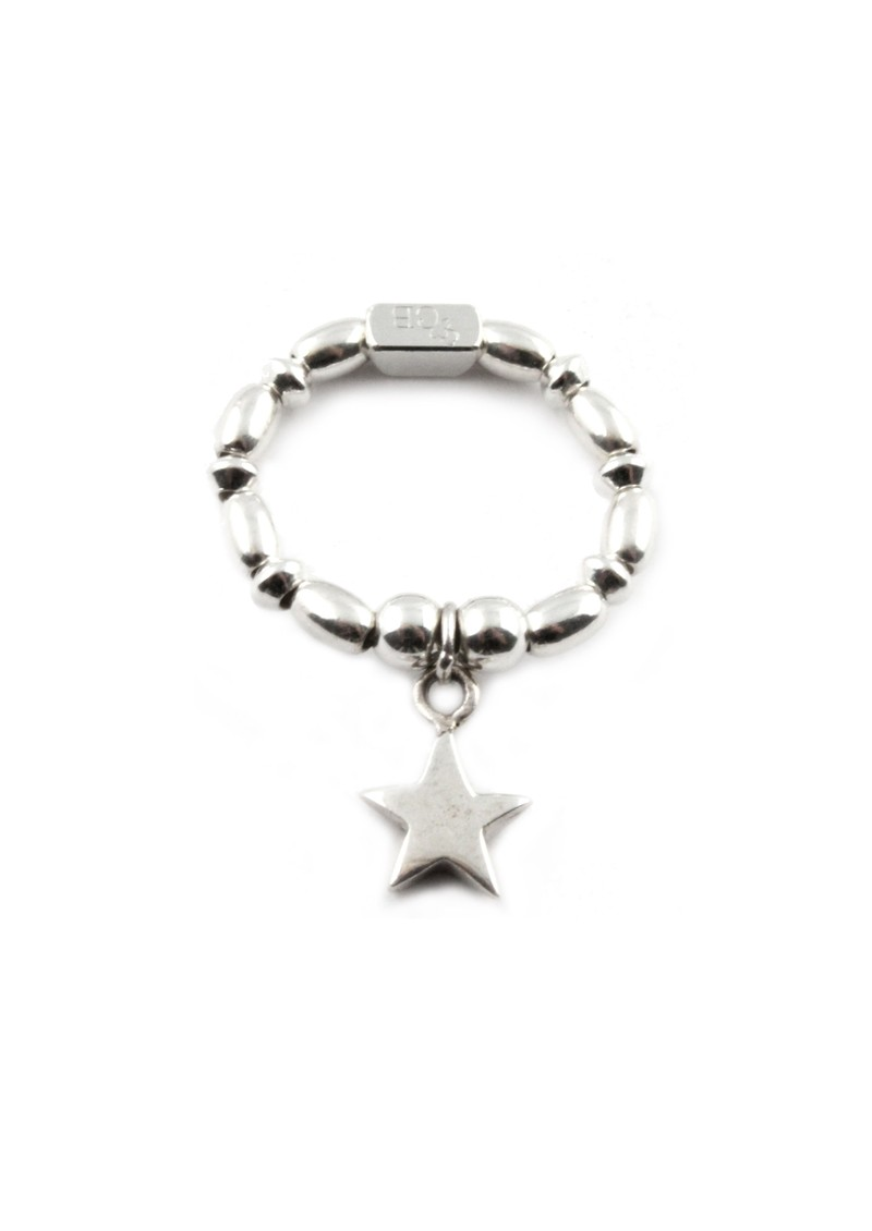 Rice & Disc Ring With Star Charm main image
