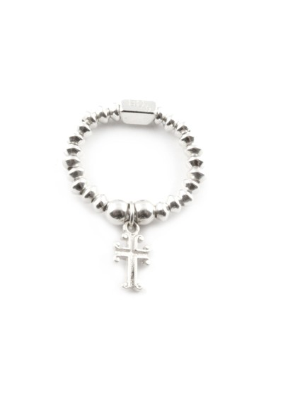 ChloBo Mini Disc Ring With Cross Charm main image