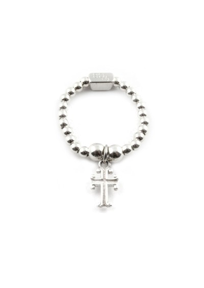 ChloBo Mini Ball Ring With Cross Charm main image