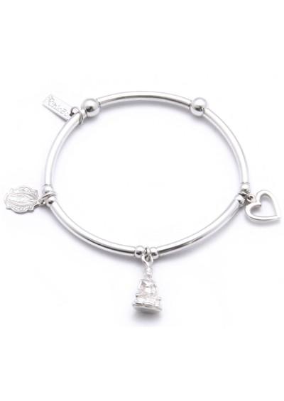 ChloBo Triple Noodle Bracelet With Buddha, Holy & Heart main image