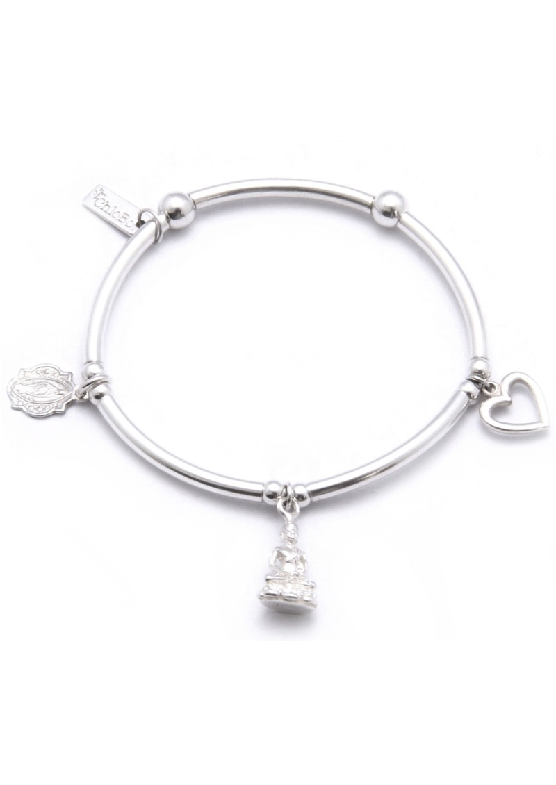ChloBo Triple Noodle Bracelet With Buddha, Holy & Heart main image