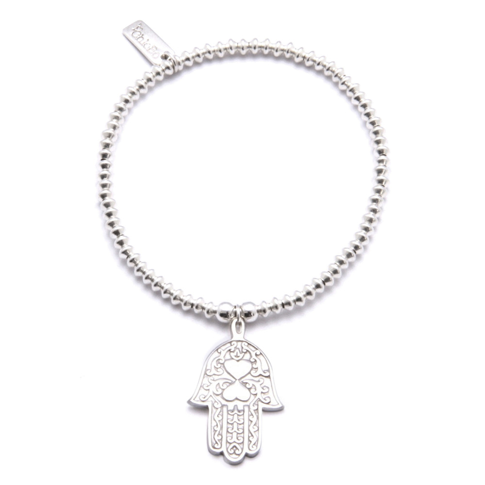 Mini Disc Bracelet With Hamsa Hand