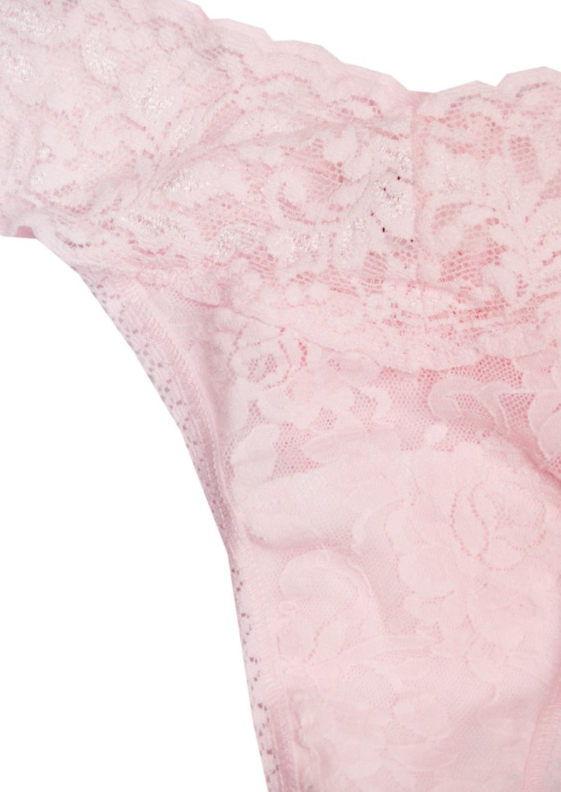 Signature Rolled Lace Thong - Bliss Pink main image