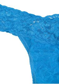 Hanky Panky Signature Rolled Lace Thong - Aquamarine