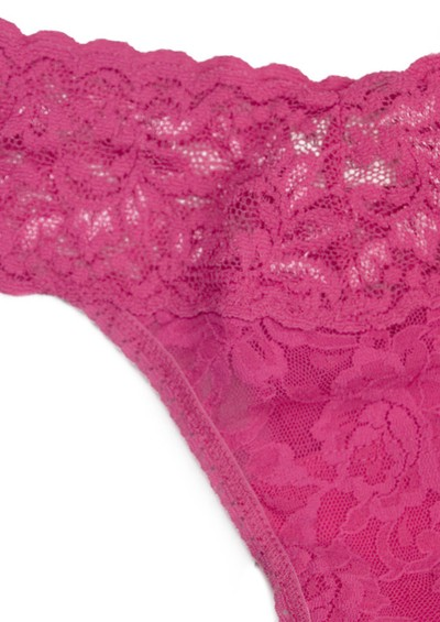 Hanky Panky Signature Rolled Lace Thong - Very Berry main image