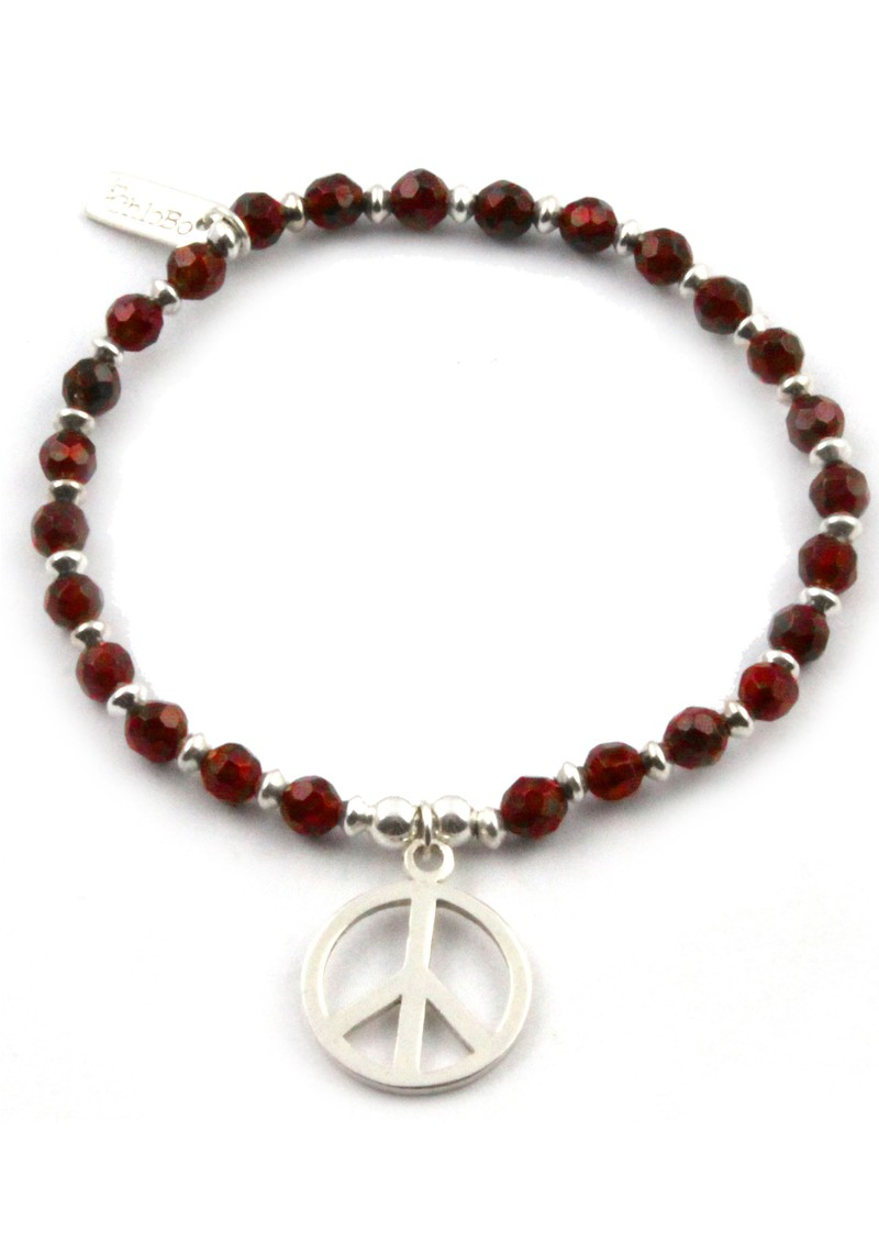 ChloBo Smoulder Bracelet With Small Peace main image