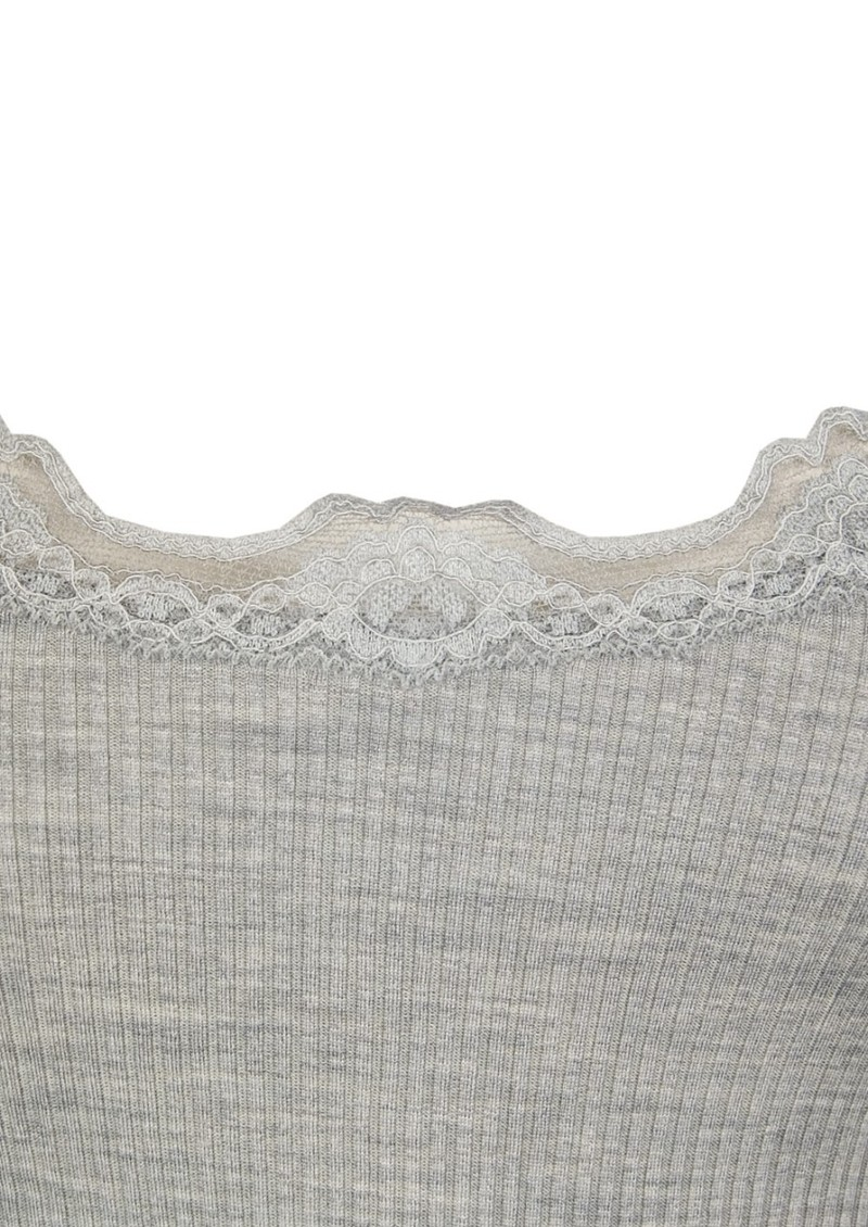 Rosemunde Silk Blend Lace Vest - Light Grey Melange main image