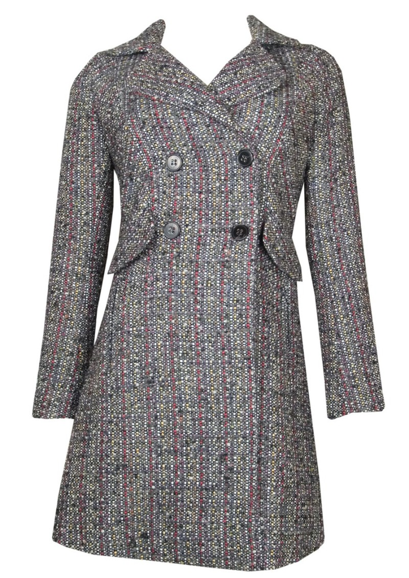 Cornelio Wool Mix Coat - Anthracite main image
