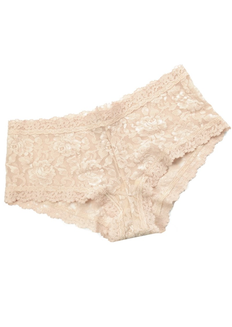 Hanky Panky Lace Boy Shorts - Nude main image