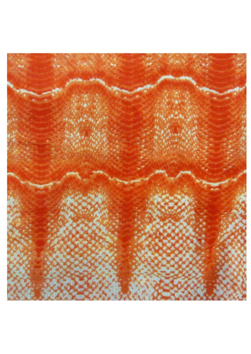 Oversized Wool Mix Python Scarf - Coral main image