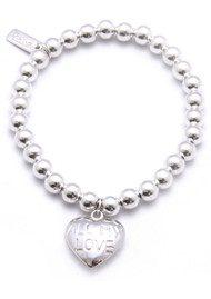 ChloBo Small Ball Bracelet with All My Love Heart Charm